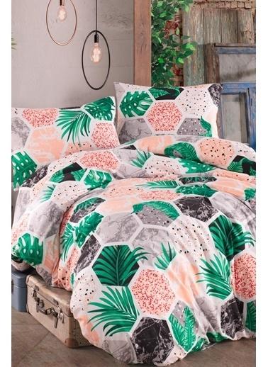 Lady Moda Hawai Çift Kişilik Pike Takımı Renkli